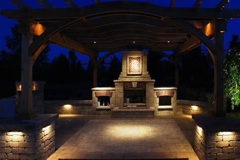 outdoor fireplace lighting landscape lighting landscape solutions
