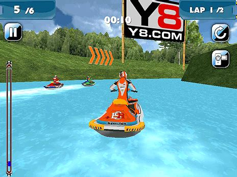 Water Scooter Game by Play Water Scooter Mania Game Online Y8