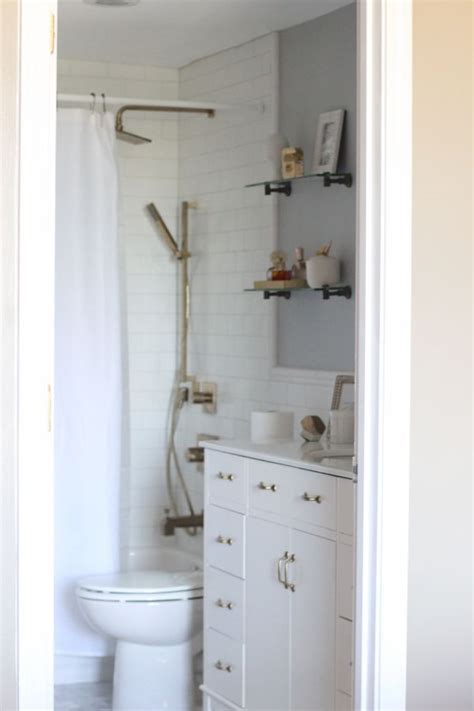 Brass Fixtures Bathroom by White Subway Tile Bathroom With Brass Fixtures