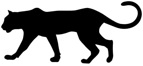 Black Panther Silhouette at GetDrawings.com | Free for ...