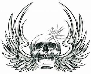 Pictures Of Skulls With Wings - Cliparts.co