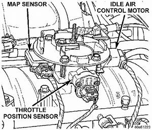 Throttle Position Sensor Dodge Dakota  5 2l