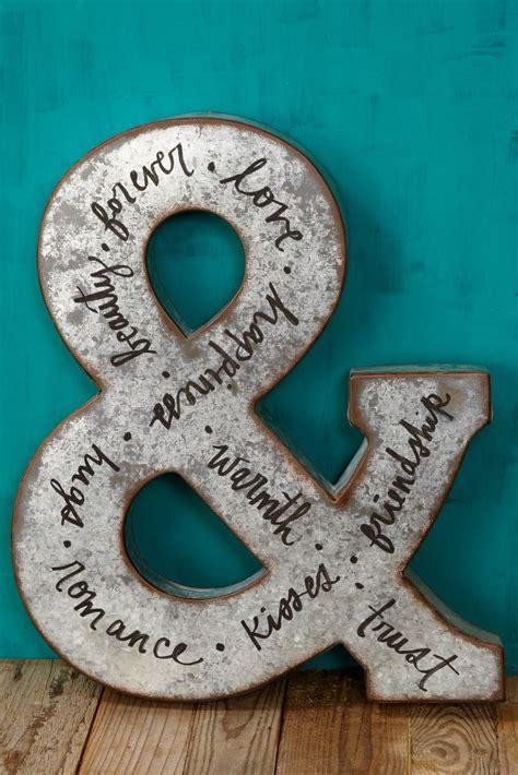 decor ampersand decor rustic letters decorative letters