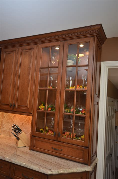medium stained wood kitchen holmdel nj  design  kitchens