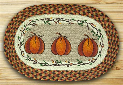 capitol earth rugs harvest pumpkin braided placemat by capitol earth rugs