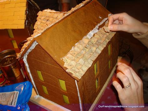 gingerbread house roof ideas our french inspired home our holiday gingerbread house