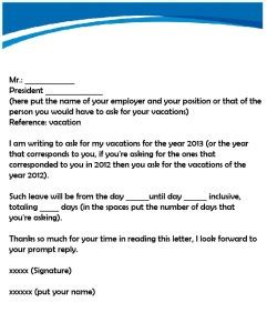 request  vacation pay sample letter myvacationplanorg
