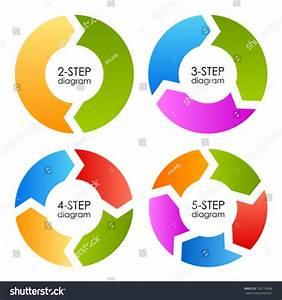 Cycle Process Diagrams Set  Vector Illustration