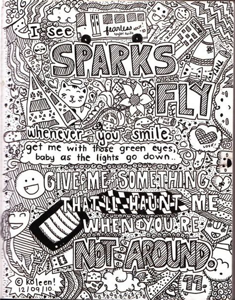 sparks fly coloring pages   taylor lyrics