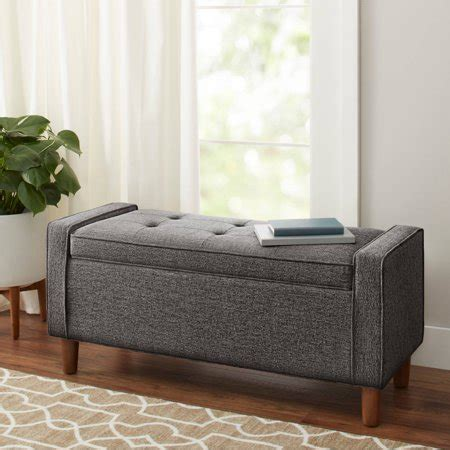 Storage Bench Modern by Better Homes Gardens Flynn Mid Century Modern
