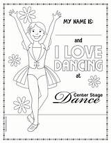 Dancer Coloring Dance Pages Tap Sheets Template Recital Host sketch template