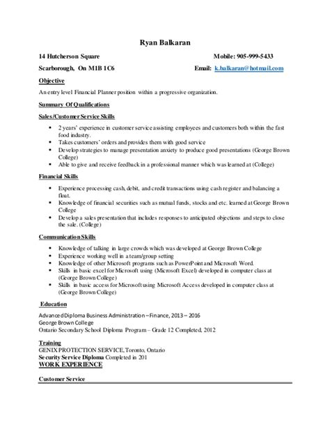 Register Resume by Formatted Resume George Brown College