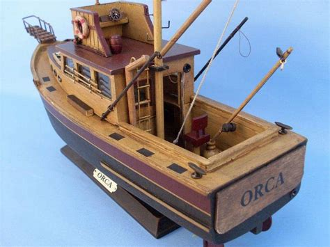Painted Boats Movie by Buy Wooden Jaws Orca Model Boat 20 Inch Models Ships