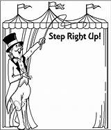 Coloring Printable Circus Carnival Clip Clipart Clown Adults Border Theme Borders Mother Games Booth College Crafts Class Cards Gotcha Library sketch template