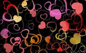 Love Colorful Hearts Happy Valentines Day Hd Wallpaper ...