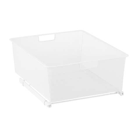 white elfa mesh easy gliders the container store