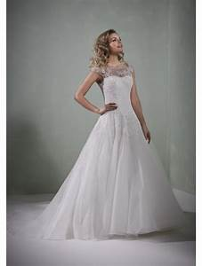 romantica ballet illusion top ball gown bridal dress ivory With illusion top wedding dress