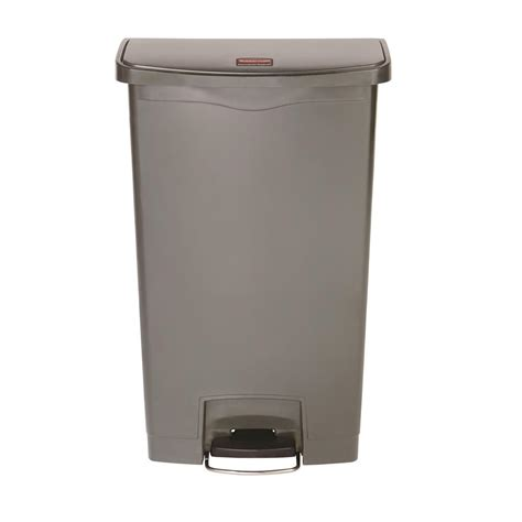 home depot commercial rubbermaid commercial products brute 55 gal grey round trash can fg265500gray the home depot