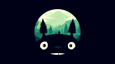 Disney Desktop Backgrounds Tumblr Wallpaper For Desktop Laptop Ao38 Totoro Art Illust Simple Cute Dark