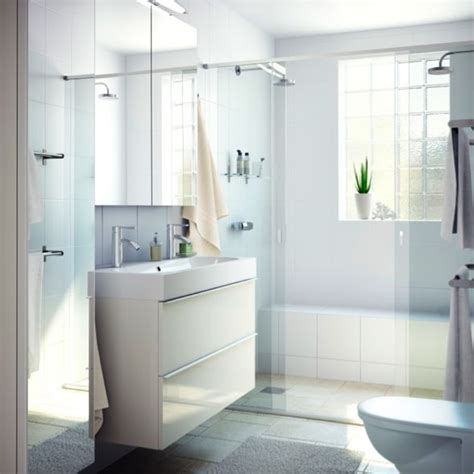 our godmorgon white vanity gives a polished clean look to