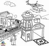 Coloring Pages Thomas Tank Engine Train Friends Worksheets Harold Printable Teenagers Helicopter Drawing Classes Games Station Toys Filminspector Billy Artwork sketch template
