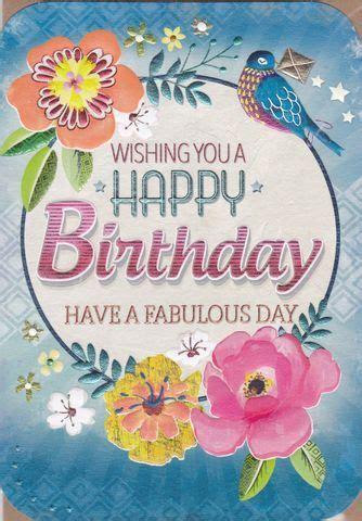 floral   fabulous day birthday card birthday cards