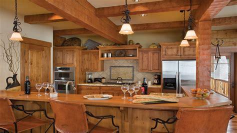 log home kitchen islands  seating log home kitchen