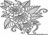 Lei Hawaiian Drawing Coloring Flower Drawings Paintingvalley sketch template