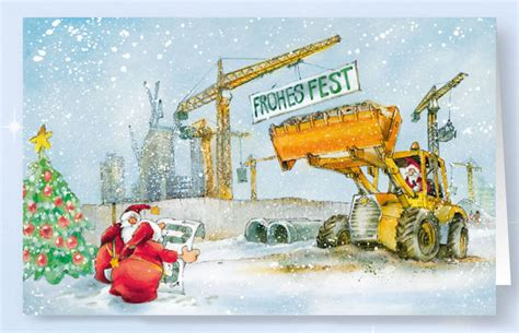 weihnachtskarte branchenkarte bauunternehmen baubranche