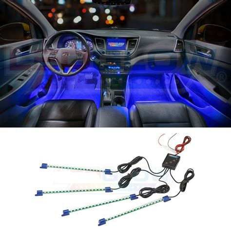 Car Lights Inside by Ledglow 4pc Blue Led Interior Light Kit Universal Cars