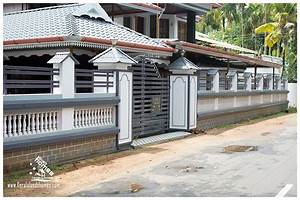 The gallery for gt compound wall gate designs in kerala