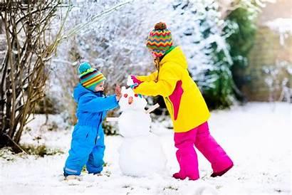 Winter Weather Dressing Snowboard Guide Kinder Children