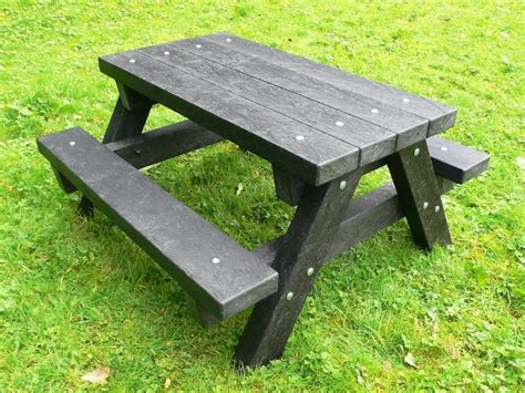 bench picnic table ribble junior picnic table recycled plastic heavy duty