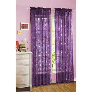 your zone floral burst sheer curtain plum crazy decor