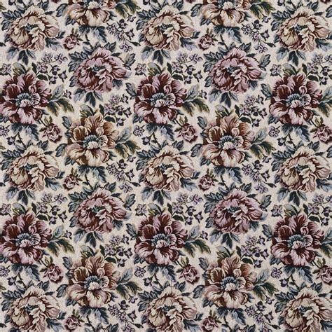 Floral Upholstery Fabric by Green And Beige Floral Tapestry Upholstery Fabric By