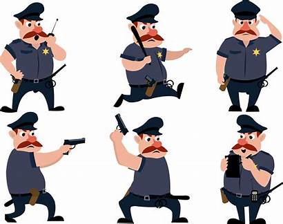Police Cartoon Policeman Drawing Clipart Hat Icons