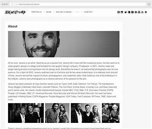 the complete guide to writing your photographer about page With photography bio template