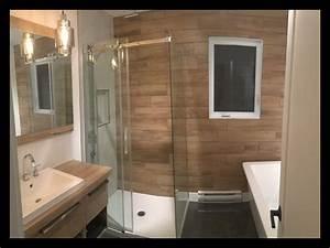 Salle De Bain Grise Et Bois : salle de bain anthracite et blanc affordable photo meuble ~ Melissatoandfro.com Idées de Décoration