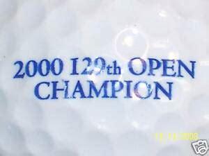 (1) TIGER WOODS 2000 BRITISH OPEN LOGO GOLF BALL BALLS   eBay