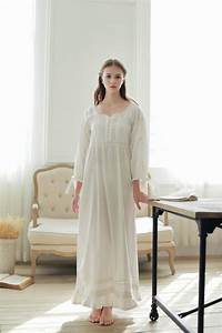 Hot Vintage Nightgowns For Women Full Length Pure Cotton ...