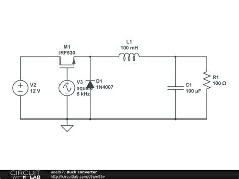 buck converter design buck converter circuitlab