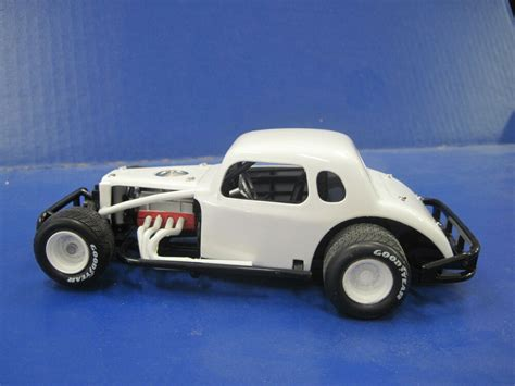 Vintage Model Race Cars by 12 Car Ertl Modified White Blank Coupe 1 25 Diecast