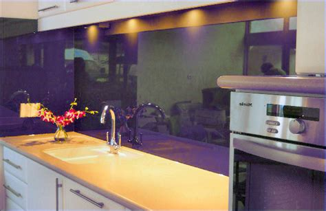 Kitchen Remodel Designs Purple Backsplash