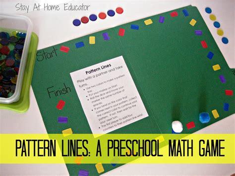 pattern lines a preschool math 648 | Pattern Lines A Preschool Math Game Stay At Home Educator 1000x750