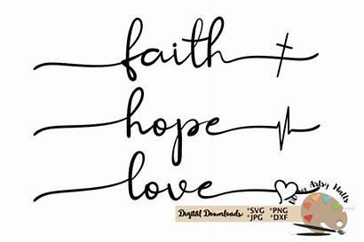 Faith Svg Hope Cricut Christian Silhouette Liefde