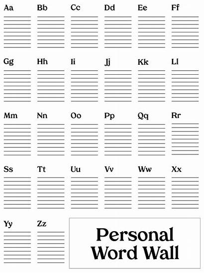 Word Wall Template Personal Printable Templates Printablee