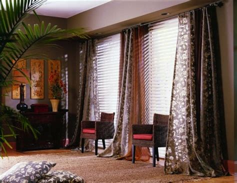 window treatments for large windows casual cottage