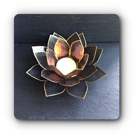 lotus candle holder black lotus flower tea light holder mystic wish