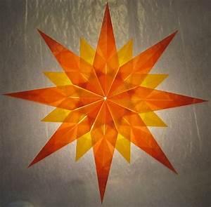 Sterne Aus Papier Falten : orange gelber stern 16 zacken sterne aus transparentpapier basteln ~ Buech-reservation.com Haus und Dekorationen