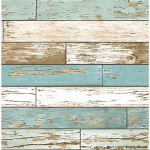 Shop Brewster Wallcovering Reclaimed Turquoise Non-Woven